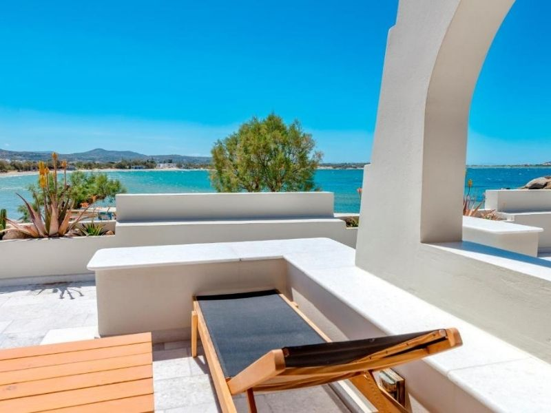 Nissaki is a five-star luxurious option for families in Naxos.